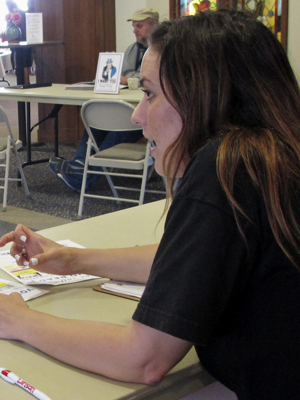 Molly McGrath, who works for VoteRiders helping people