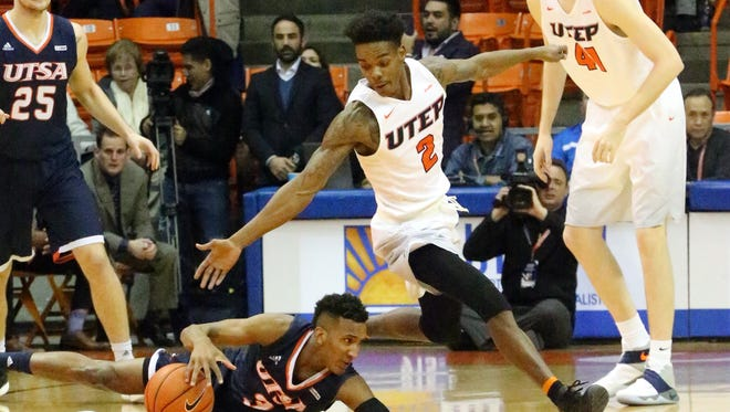 The UTEP men hosted UTSA Saturday night in the Don Haskins Center, winning 59-39.