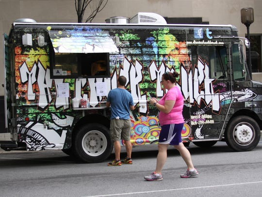 A delicious food truck rally highlighted the TD Saturday