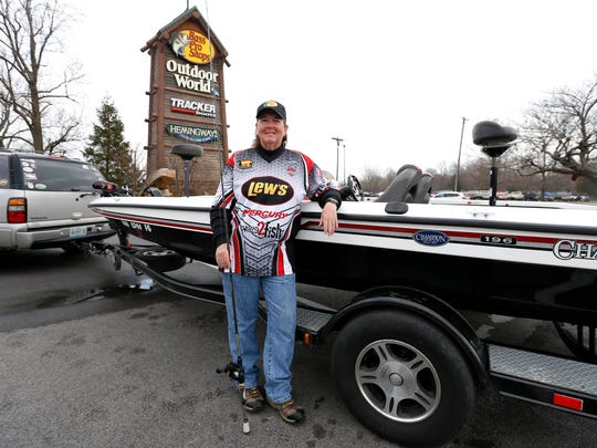 Mickie Wolfinbarger was named Lady Angler of the Year by Lady Bass Anglers Association in November of last year. Wolfinbarger won the award by accumulating more points than any of the other professional women anglers fishing the Lady Bass Anglers circuit.