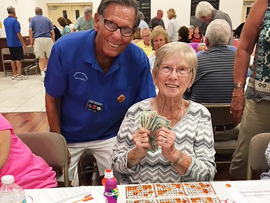 At the Thursday, Feb. 22, the Knights of Columbus San Marco Council #6344 Bingo Fundraiser in the San Marco Parish Center, the Lucky Ball Winner was Muriel Lapointe.