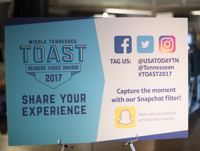 Middle TennesseeÕs 10th annual Toast readersÕ choice