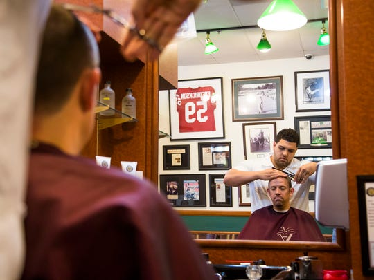 Cleaning up for a job interview? Collegiate patrons get 20 percent off any service, including hair cuts and beard and mustache trims, at V's Barbershop.