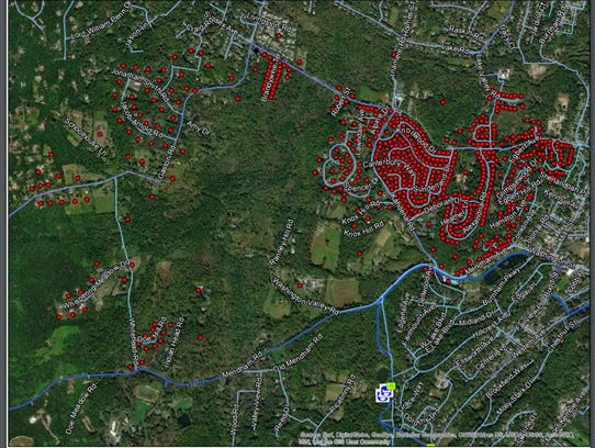 Morris Township residents should boil water as a result of a main break. This township-supplied map shows areas covered by the advisory.