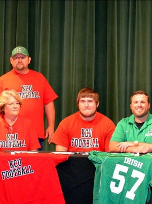 Greg Hughes of the Houston County High School Fighting Irish signed to play for Kentucky Christian University.