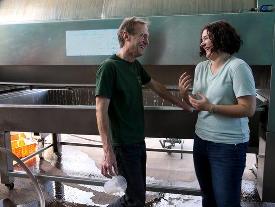 Nova Cadamatre and Fox Run winemaker Peter Bell discuss