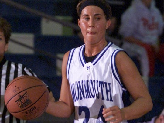 Former St. John Vianney standout Amanda Rosato, shown playing at Monmouth University, where she is No. 3 on the program's all-time scoring list.