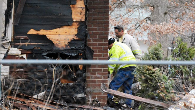 Investigators are on the scene of a fatal fire in Shrewsbury Township Friday, Dec. 8, 2017. Bill Kalina photo