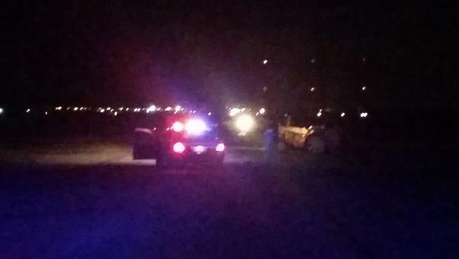 Two people hospitalized following one-vehicle crash along Avenue 50 in Coachella Wednesday night.