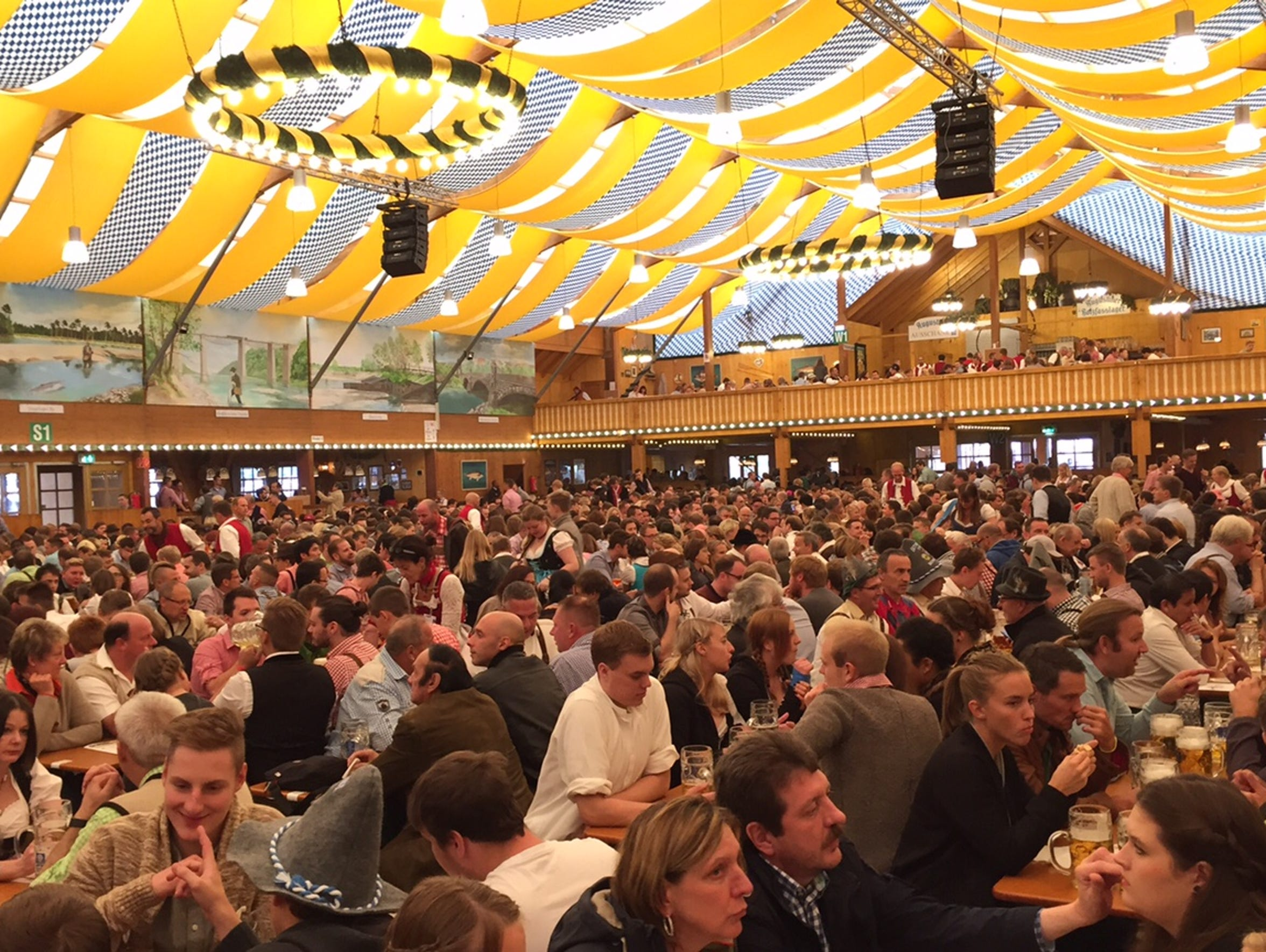 Munich, Germany, celebrates Oktoberfest.
