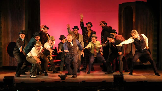 "Luck be a lady for the gamblers in ""Guys and Dolls,"" at Barn Theatre in Augusta."