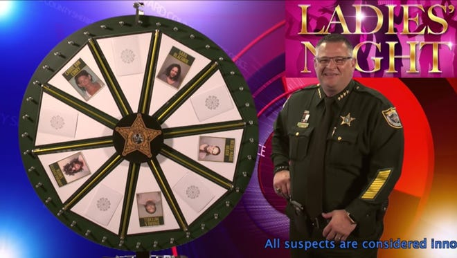 """Wheel of Fugitive"" is a popular weekly show Sheriff Wayne Ivey and other members of the Brevard County Sheriff's Office staff produce for the BCSO Facebook page."