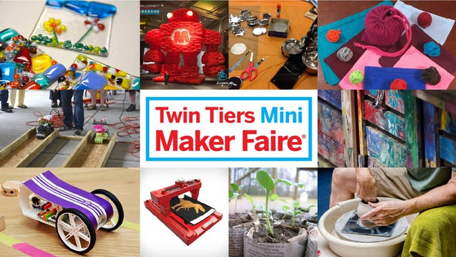 The Twin Tiers Mini Maker Faire is scheduled for Saturday at the Arnot Mall.