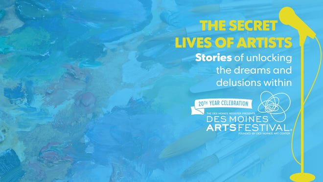 The secret lives of artists is presented by the Des Moines Storytellers Project.