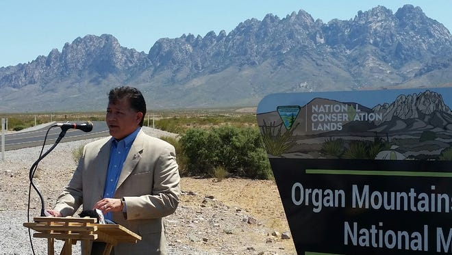 Las Cruces Mayor Ken Miyagishima and other elected officials from around Doña Ana County on Monday, July 10, 2017, urged federal officials to maintain the current size of Organ Mountains-Desert Peaks National Monument.