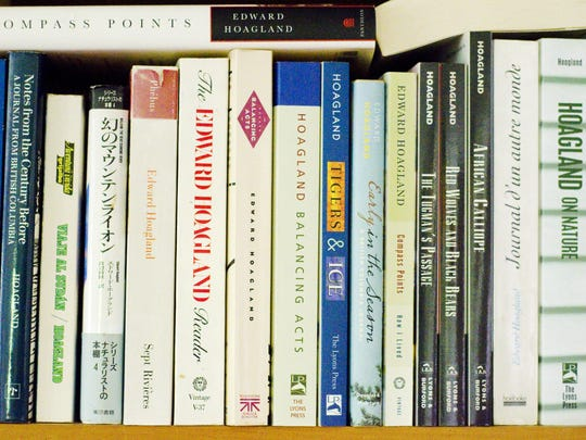 Some of the works by author Edward Hoagland at his summer home in Sutton, photographed June 7, 2011.