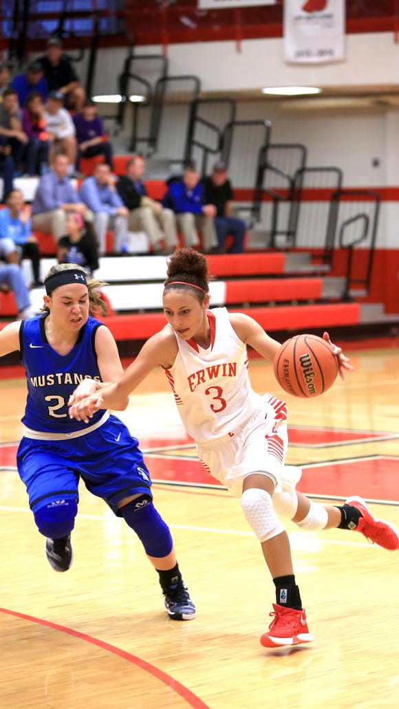 Erwin's Kendra Griffin has signed to play college basketball for Charleston (W. Va.).