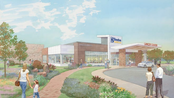 A rendering of the cancer center Beebe Healtcare is building in Millville.