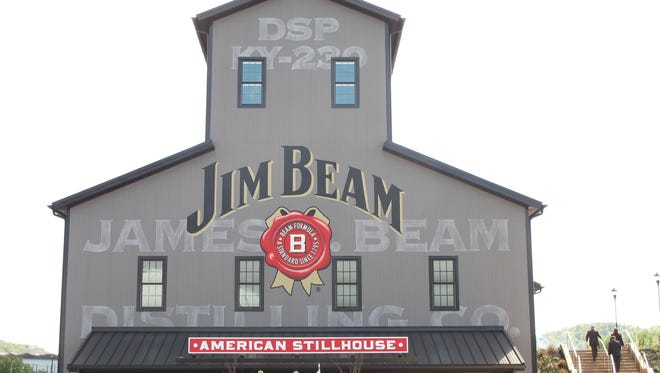 This Oct. 3, 2012 photo shows the Jim Beam visitors center at its central distillery in Clermont, Ky.