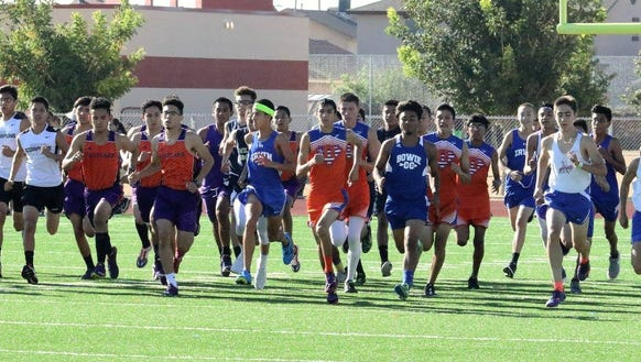 The start of the boy's varsity at Pebble Hills High