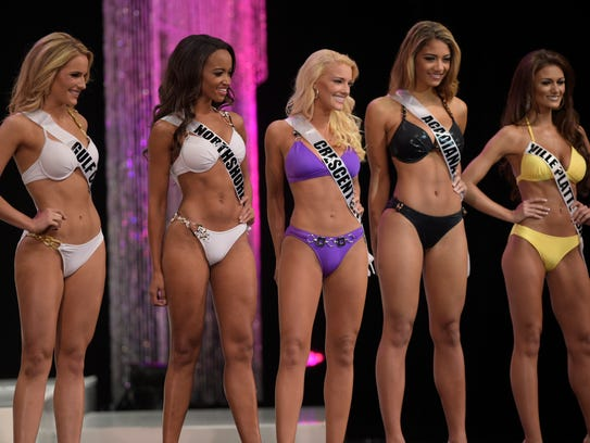 Contestants compete for the title and crown of Miss