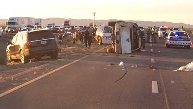 A high-speed chase through Valley streets and freeways ended in a rollover crash along Interstate 10 south of Chandler.