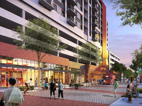 A rendering  of the Center City District project shows