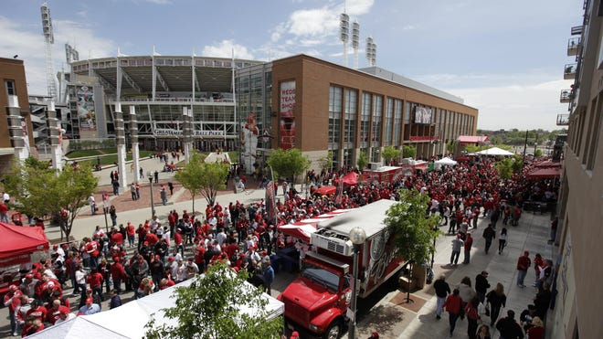 Crosley Terrace will host ESPN, while the streets between Great American Ball Park and The Banks host a block party.