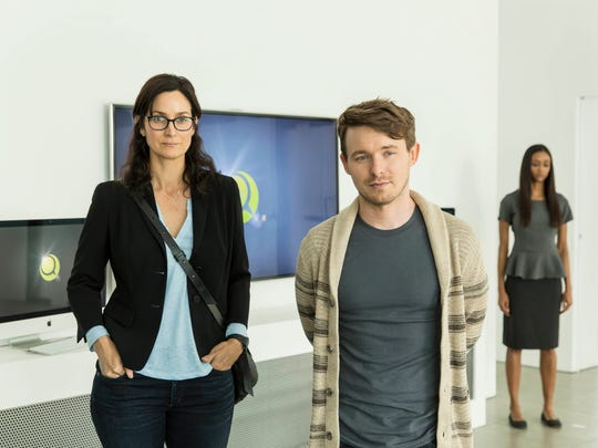 Carrie-Anne Moss and Marshall Allman give AMC's 'Humans'