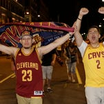 Cavaliers fans flip over championship win
