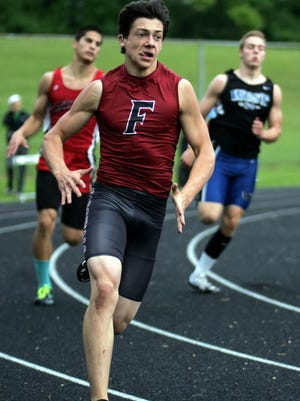 Fond du Lac's Kyle Marcoe competes in the 400-meter dash Friday at a WIAA Division 1 sectional track and field meet at Beaver Dam.
