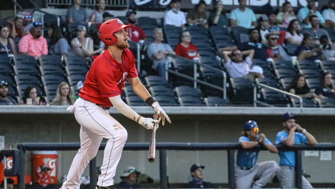 Lyle Miller-Green of the Amarillo Sod Squad hit for the cycle and drove in eight runs to lead the Sod Squad to a 12-7 win over the Amarillo Sod Dogs on Tuesday night at Hodgetown.