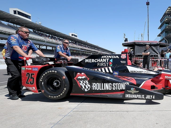 Justin Wilson drove this Rolling Stones car in the 2015 Indianapolis 500.