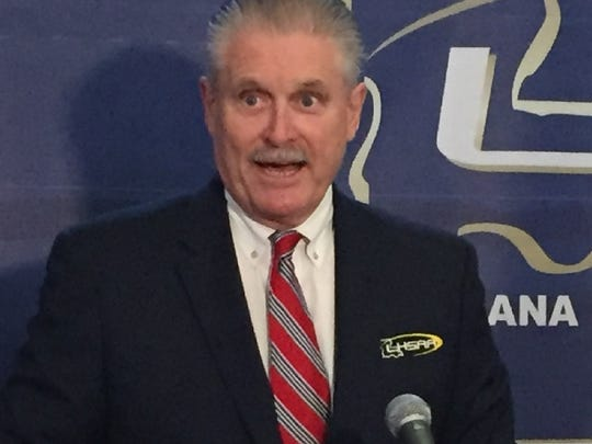 LHSAA Executive Director Eddie Bonine met with the