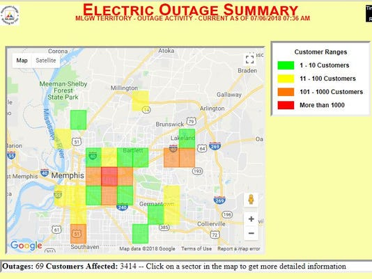 Memphis Power Outage 380 Mlgw Customers Still In The Dark