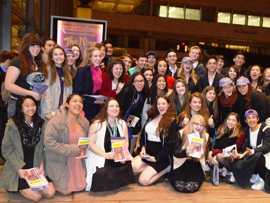 Musical Theatre University students who visited New