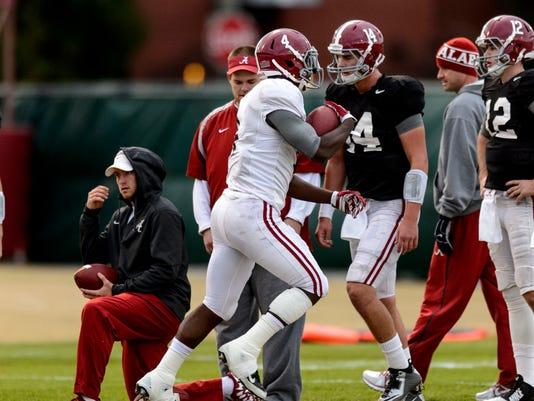 Alabama Football Practice November 25, 2014