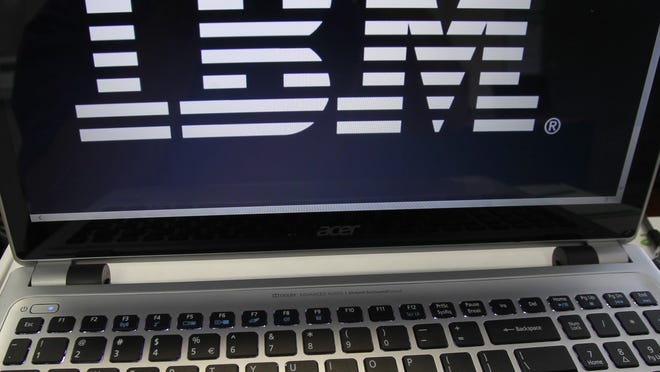 IBM reported Monday that its third-quarter earnings per share were $3.34, down 9 percent from a year ago, but four cents better than the Wall Street consensus had expected.