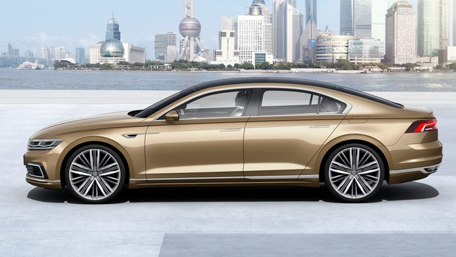VW C Coupe GTE unveiled at 2015 Shanghai auto show is aimed at China market. Don't expect to see it in the U.S.