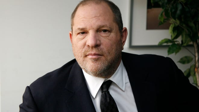 FILE - In this Nov. 23, 2011 file photo, producer Harvey Weinstein, co-chairman of The Weinstein Company, appears during an interview in New York. Weinstein faces multiple allegations of sexual abuse and harassment from some of the biggest names in Hollywood. (AP Photo/John Carucci, File) ORG XMIT: NYET267