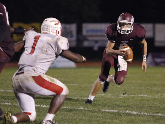 Jason Pridgeon, right, and Okemos are 4-0 for the first