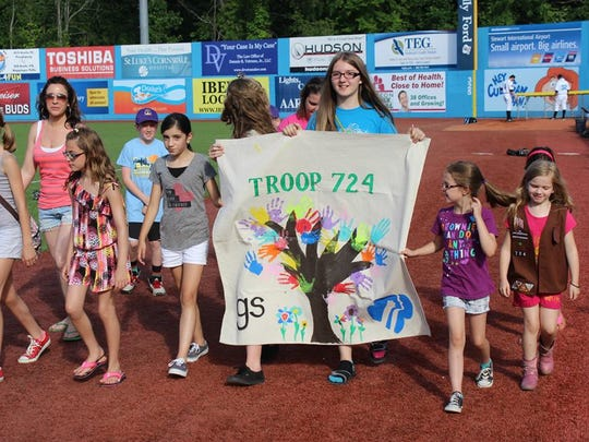 Girl Scouts and Brownies are as well as Boy Scouts and Cub Scouts are all invited to take part in Scout Day at Dutchess Stadium.