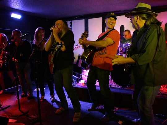 Traditional country and classic rock group R Buckle Road perform at The Hood Bar and Pizza on Wednesday night in Palm Desert. The band is the first of its genre to make it to the Tachevah semifinal showcase.
