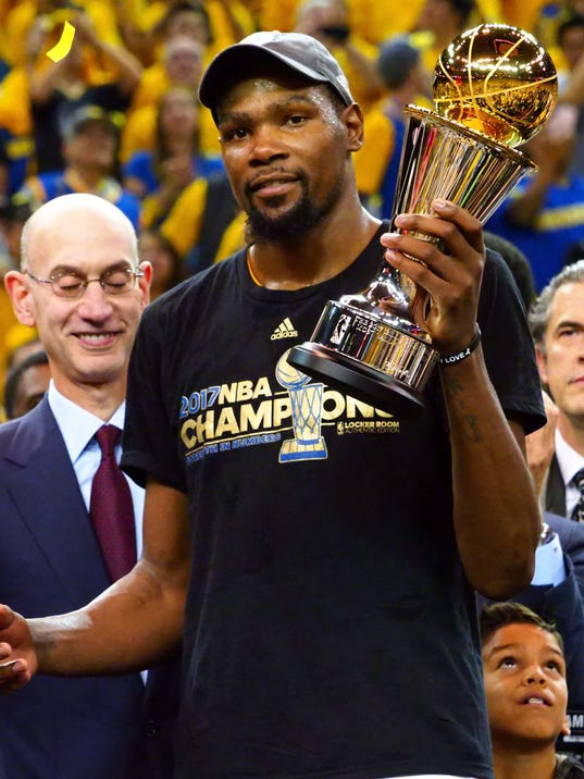 Golden State Warriors' Kevin Durant named NBA Finals MVP