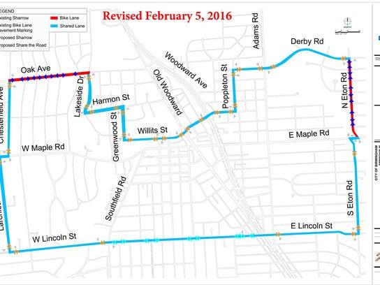 Bike Route Pavement Markings 2-5-16