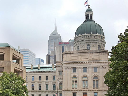 IndyStar stock indianapolis stock downtown stock statehouse stock government stock skyline