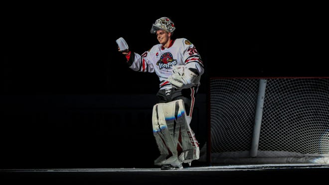 Goalie Kevin Lankinen has been sharing time as the Rockford starter with Collin Delia the past two seasons, but the two may be up with the Chicago Blackhawks this year.