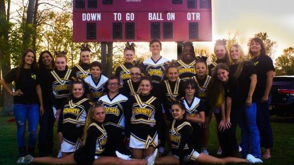The Hamlin Hornets Youth Football and Cheerleading Organization co-ed Midget Cheer Team provided photo