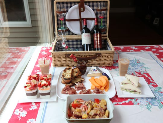 Chef Ninamarie Bojekian prepared these sample picnic