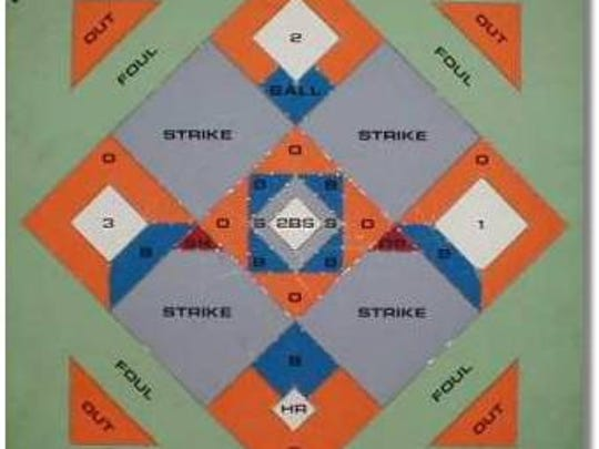 Dartball is played by tossing steel-tipped darts at a board designed to resemble a baseball field.